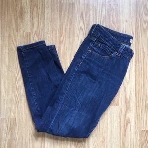 Topshop Low Rise Dark Wash Moto Jeans